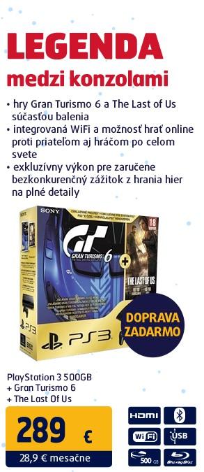 PS3 500GB/Gran Turismo 6/TLOU