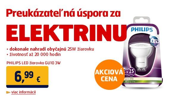 LED žiarovka GU10 3W (náhrada 25W žiarovky) 150lm 2700K