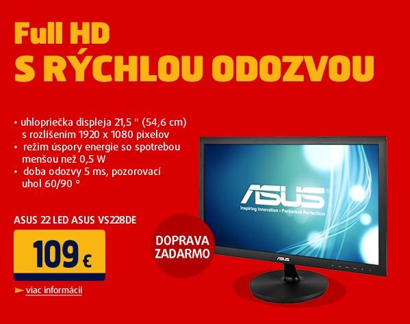 22 LED ASUS VS228DE -5ms,Full HD,D-Sub