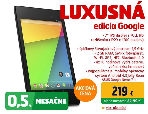 Google Nexus 7 II by Asus WIFI  (2013)/16G/2G/B/A čierny