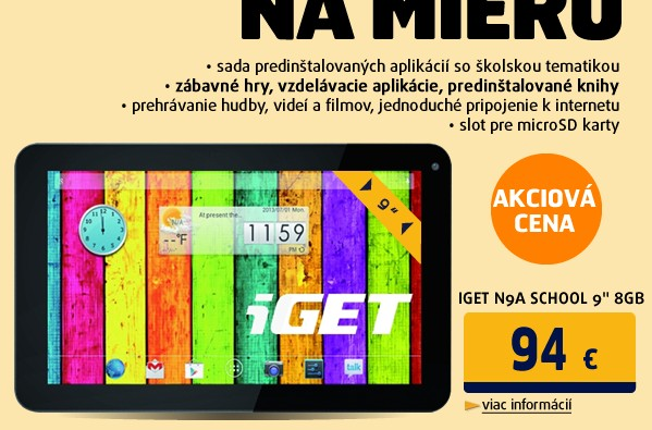 """N9A SCHOOL 9"""" 8GB black"""