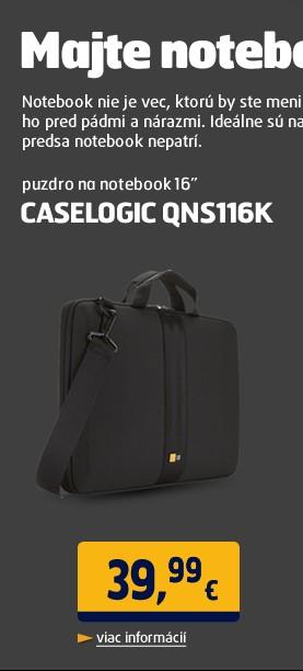 """QNS116K puzdro na notebook 16"""" cierne"""