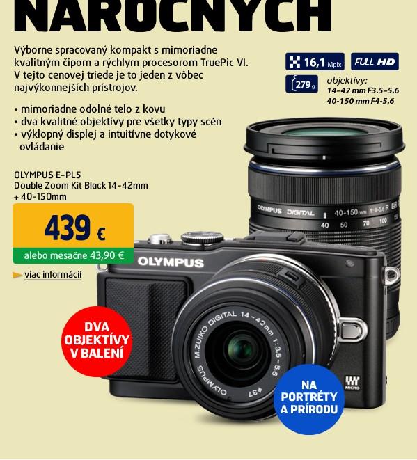 E-PL5 Double Zoom Kit Black 14-42mm + 40-150mm