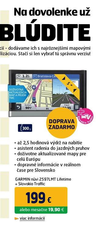 nüvi 2597LMT Lifetime + Slovakia Traffic