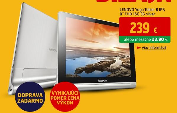 Yoga Tablet 8 8 16G wifi + 3G silver (LNT59388132S)