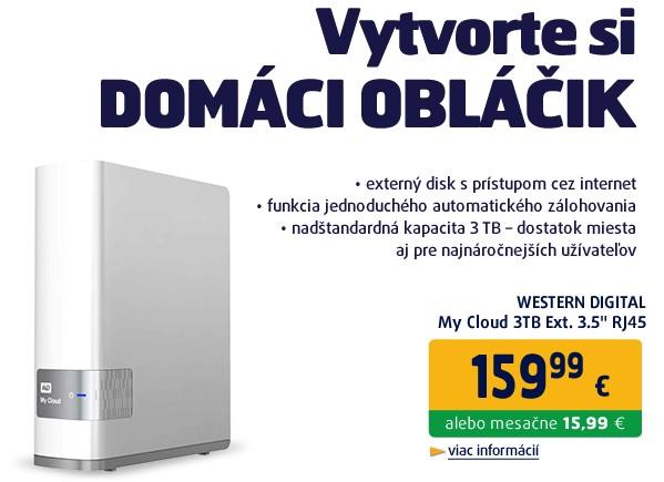 My Cloud 3TB Ext. 3.5 RJ45 (GLAN), USB 3.0, 2xDualCore CPU