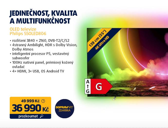OLED televize Philips 55OLED806