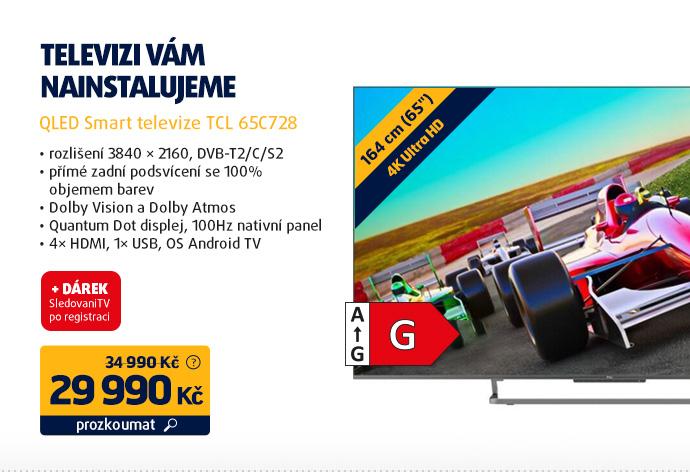 QLED Smart televize TCL 65C728