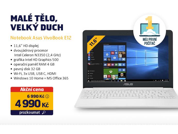 Notebook Asus VivoBook E12