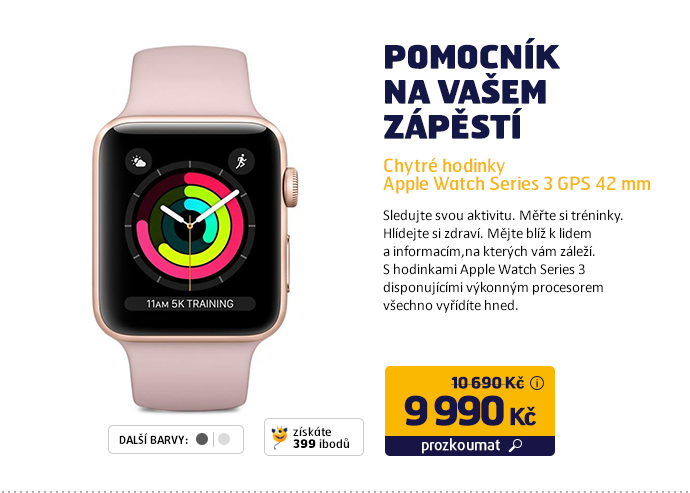 Chytré hodinky Apple Watch Series 3 GPS 42mm