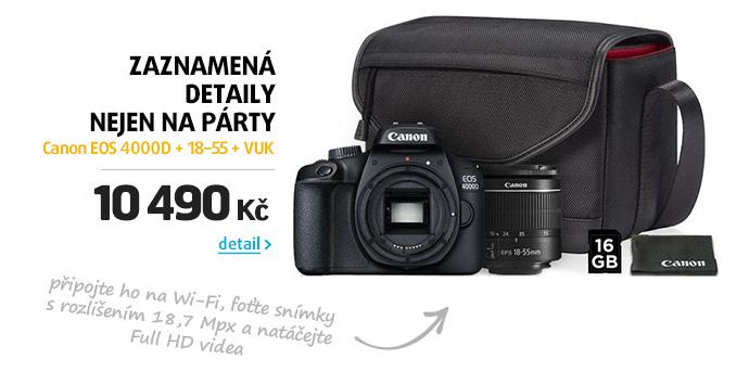 Fotoaparát zrcad. Canon EOS 4000D + 18-55 + VUK
