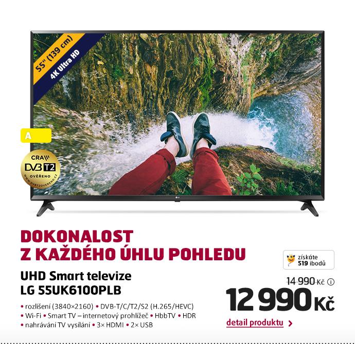 UHD Smart televize LG 55UK6100PLB