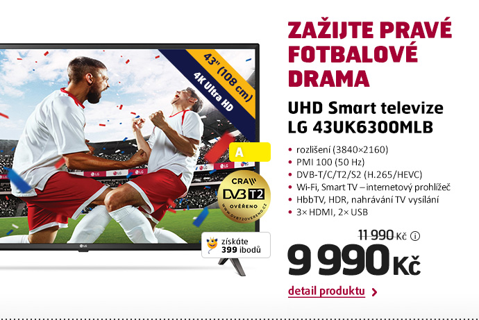 UHD Smart televize LG 43UK6300MLB