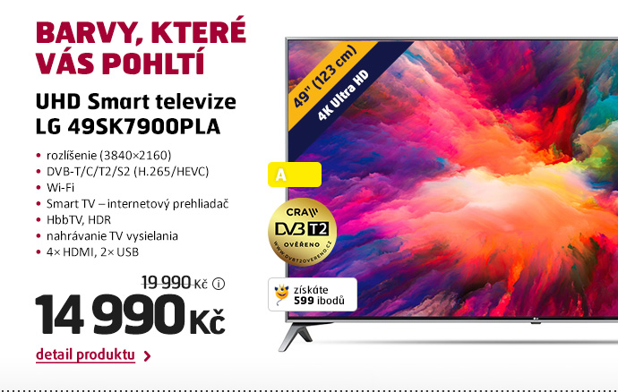 UHD Smart televize LG 49SK7900PLA
