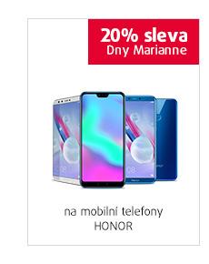 20% sleva na mobilní telefony Honor