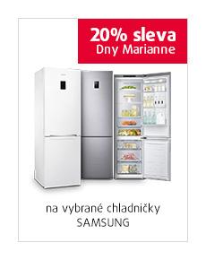 20% sleva na vybrané chladničky Samsung