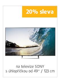 "20% sleva na televízory Sony s uhlopriečkou od 49"" / 123 cm"