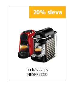 20% sleva na kávovary Nespresso