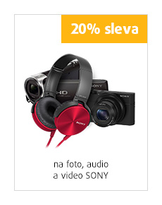 20% sleva na foto, audio a video Sony