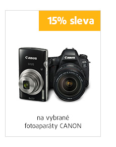 15% sleva na vybrané fotoaparáty Canon