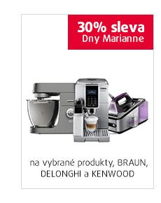 30% sleva na vybrané produkty DeLonghi, Kenwood a Braun