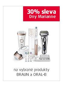 30% sleva na vybrané produkty Braun a Oral-B