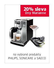 20% sleva na vybrané produkty Philips, Sonicare a Saeco