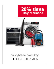 20% sleva na vybrané produkty Electrolux a AEG