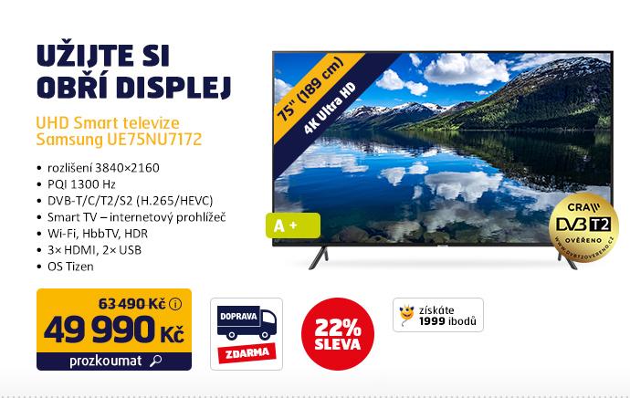UHD Smart televize Samsung UE75NU7172