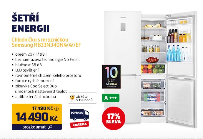 Chladnička s mrazničkou Samsung RB33N340NWW/EF