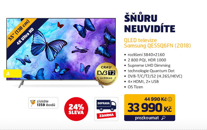 QLED televize Samsung QE55Q6FN (2018)