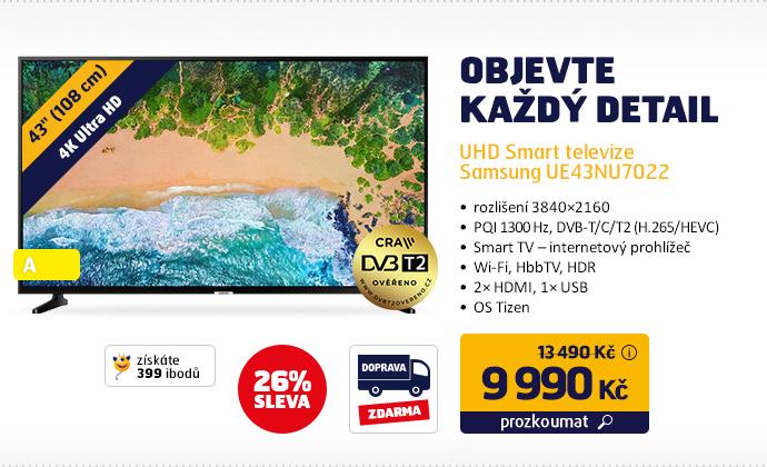 UHD Smart televize Samsung UE43NU7022