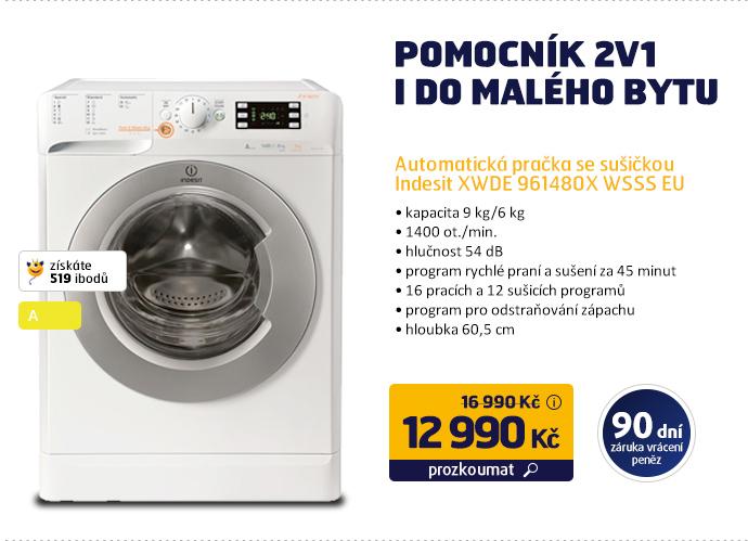 Automatická pračka se sušičkou Indesit XWDE 961480X WSSS EU