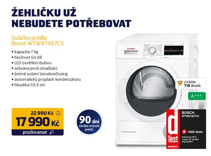 Sušička prádla Bosch WTW87467CS