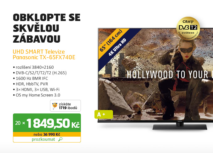 UHD SMART Televize Panasonic TX-65FX740E