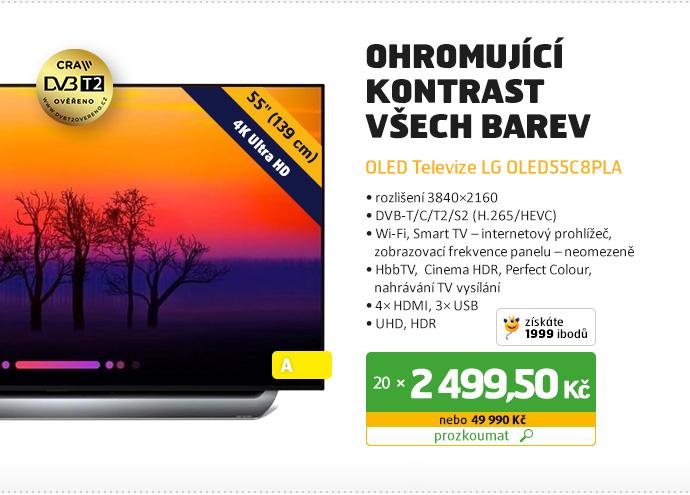 OLED Televize LG OLED55C8PLA