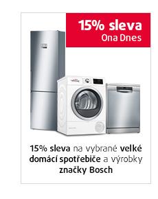 15% sleva na vybrané velké domácí spotřebiče a výrobky značky Bosch