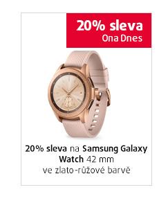 20% sleva na Samsung Galaxy Watch 42mm ve zlato-růžové barvě