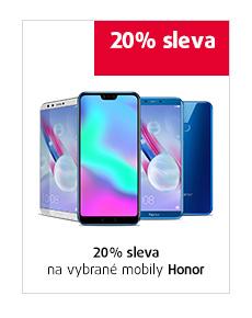 20% sleva na vybrané mobily Honor