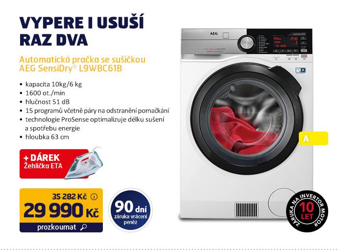 Automatická pračka se sušičkou AEG SensiDry® L9WBC61B