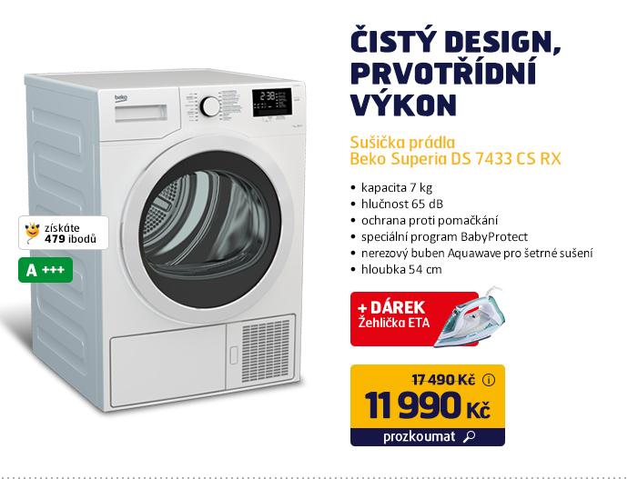 Sušička prádla Beko Superia DS 7433 CS RX