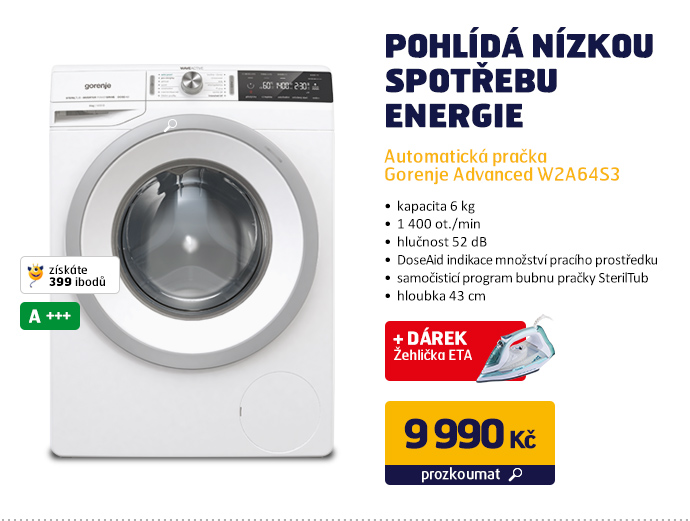 Automatická pračka Gorenje Advanced W2A64S3