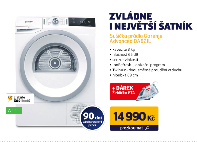Sušička prádla Gorenje Advanced DA82IL