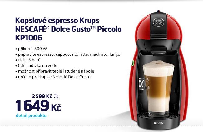 Kapslové espresso Krups NESCAFÉ® Dolce Gusto™ Piccolo KP1006