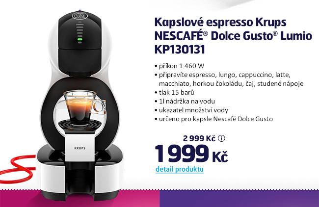 Kapslové espresso Krups NESCAFÉ® Dolce Gusto® Lumio KP130131