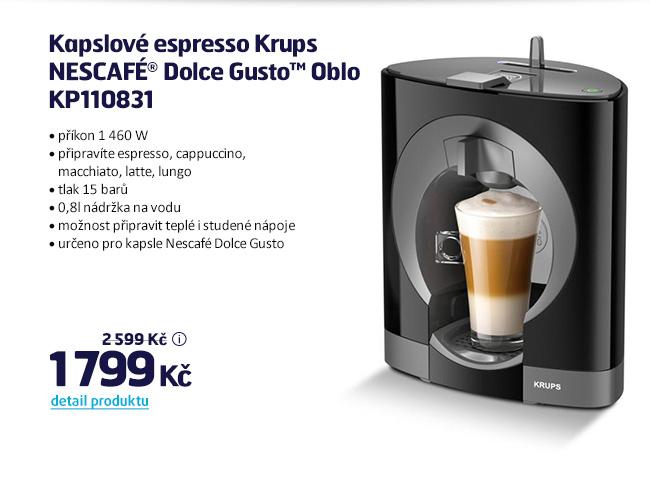 Kapslové espresso Krups NESCAFÉ® Dolce Gusto™ Oblo KP110831