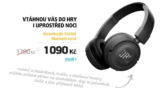 Sluchátka JBL T450BT Bluetooth černá