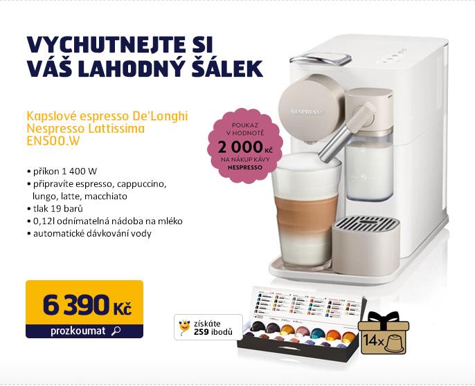 Kapslové espresso De'Longhi Nespresso Lattissima EN500.W