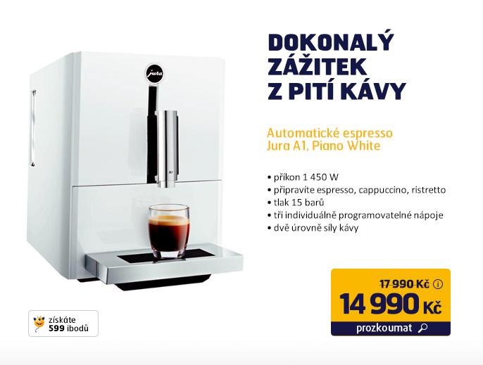 Automatické espresso Jura A1, Piano White