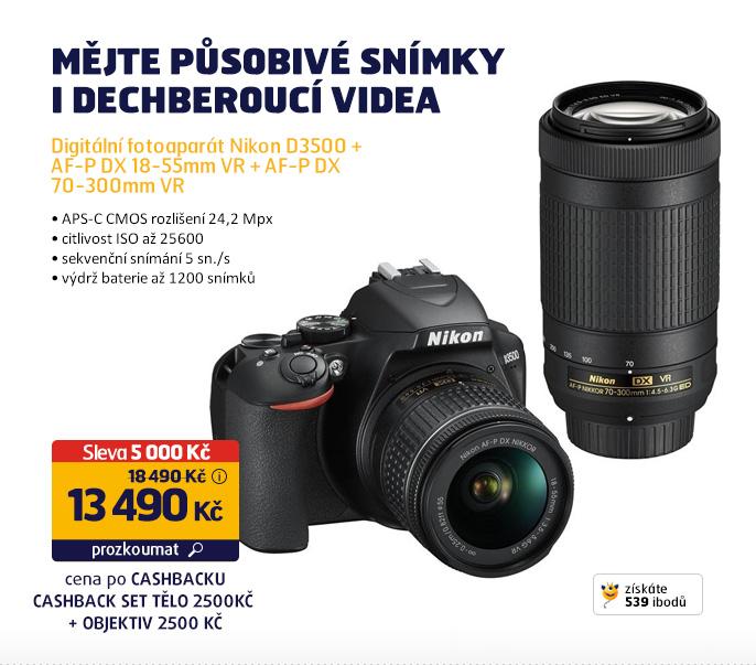 Digitální fotoaparát Nikon D3500 + AF-P DX 18-55mm VR + AF-P DX 70-300mm VR